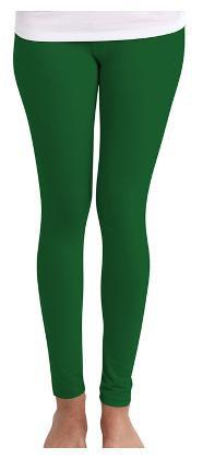 Huetrap Women's Skinny Fit Green Solid Legging