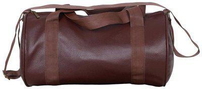CP Bigbasket Leather Men Duffle bag - Brown