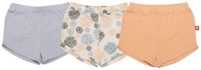 Nino Bambino Baby girl Cotton Solid Shorts - Orange