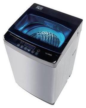 Lloyd 8 Kg Fully automatic top load Washing machine - LWDD80ST , Black & White