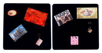 ABV (1.5 x 1.5 ft each) Bulletin Board;Pin Board;Office Wall Hanging;Photo Display Board;Home & Office Decor-Black Pack of 2