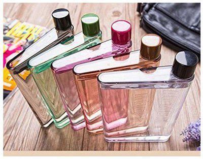 Metroz 420 ml Plastic Assorted Water Bottles - Set of 1