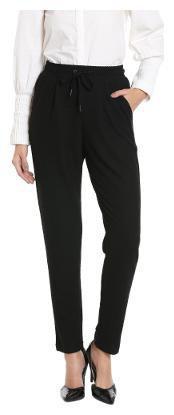 VERO MODA Women's Relaxed Pants (1962558003_1962558003_Black Beauty_Large)