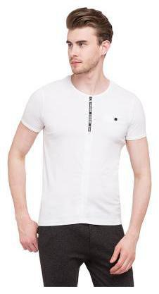 Status Quo Men Round neck Sports T-Shirt - White