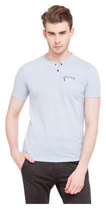 Status Quo Men Henley neck Sports T-Shirt - Blue