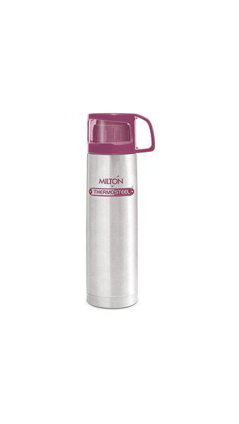 Milton Glassy Insulated Thermosteel Flask;1-Piece;750 ML;Pink