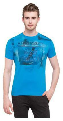 Status Quo Men Round neck Sports T-Shirt - Blue