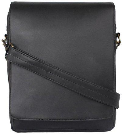 P&y Fashion Men's Black Synthetic Messenger Bag