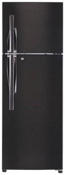 LG 335 L 4 star Linear cooling Refrigerator - GL-T372JBLN , Black steel