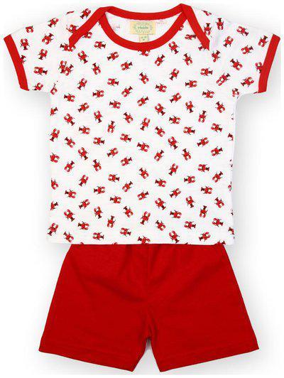 Pikaboo Baby boy Top & bottom set - Red