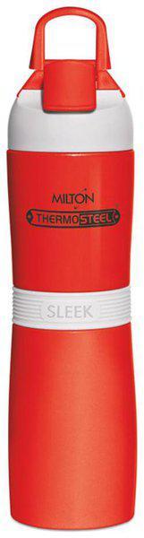 Milton 400 ml Stainless Steel Red Water Bottles - Set of 1