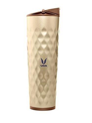 Vaya Drynk Stainless Steel Water Bottle (Tumbler plus Sipper), 600 ml, Gold