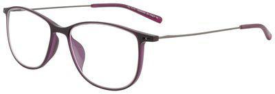 Ted Smith Purple Aviator Full Rim Eyeglasses for Men