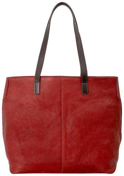 Hidesign Red Solid Leather Handheld Bag