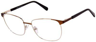 David Blake Brown Wrap around Full Rim Eyeglasses for Men