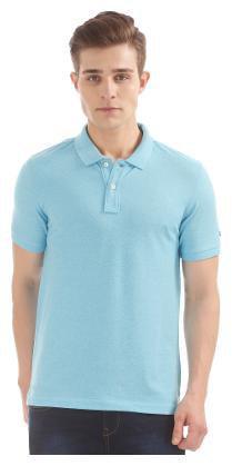 Arrow Men's Regular Fit Printed T-Shirt - Blue