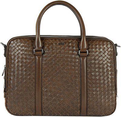 Eske Brown Leather Laptop messenger bag