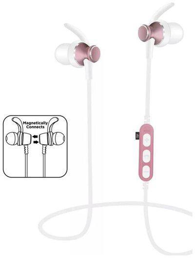 Uniq MS-T4 wireless Bluetooth earphone Support TF Headphone (White)