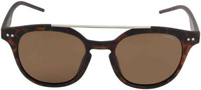 Polaroid Round Sunglasses (Brown)