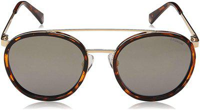 Polaroid Polarized lens Round Frame Sunglasses for Men - 1 sunglasses