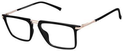 David Blake Black Wayfarer Full Rim Eyeglasses for Men - 1