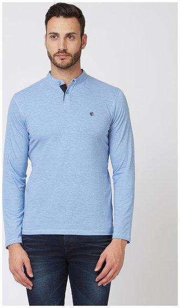 Killer Men Blue Regular fit Cotton Round neck T-Shirt - Pack Of 1
