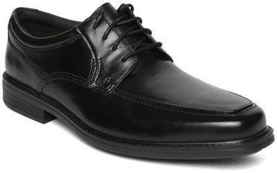 Clarks Men Black Leather Derbys