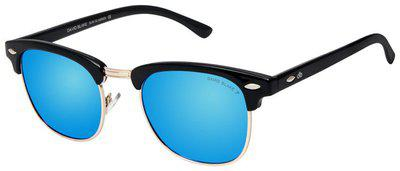 David Blake Mirrored lens Wayfarer Sunglasses for Men , 1 david blake sunglass & 1 selvit
