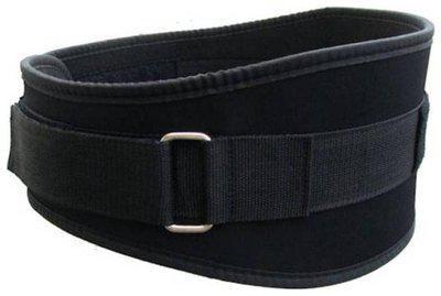 Monika Sports moni 6 inch wide Waist Support (Free Size, Black)