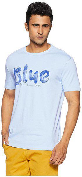 Levi's Men's Plain Regular Fit T-Shirt (39687-0012_Blue_XL)