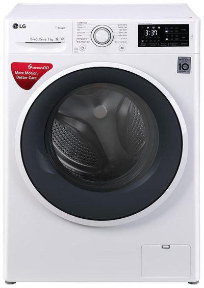 LG 7 Kg Fully automatic front load Washing machine - FHT1007SNW , Blue & White