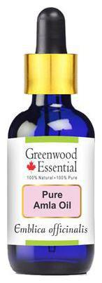 Greenwood Essential Pure Amla Oil (Emblica officinalis) with Glass Dropper 100% Natural Therapeutic Grade 50ml