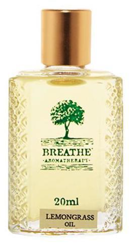 Breathe Aromatherapy Lemongrass Oil 20 Ml