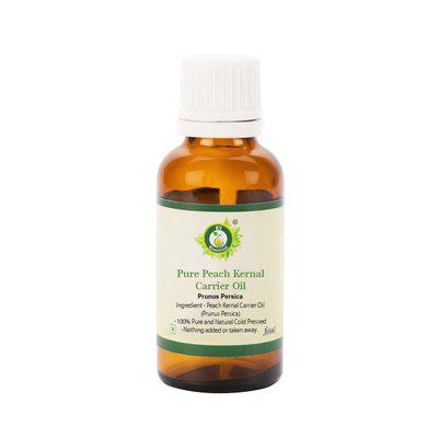 R V Essential Pure Peach Kernal Carrier Oil 15Ml- Prunus Persica (100% Pure And Natural Cold Pressed)
