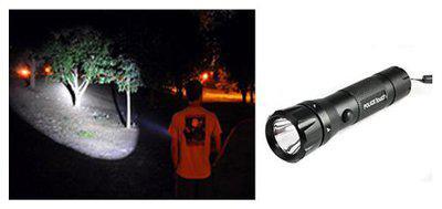 Super Mini Police Pocket Waterproof LED Flashlight Torch Aluminium Alloy Body Handheld LED Torch, Box Pack 11 Cm.