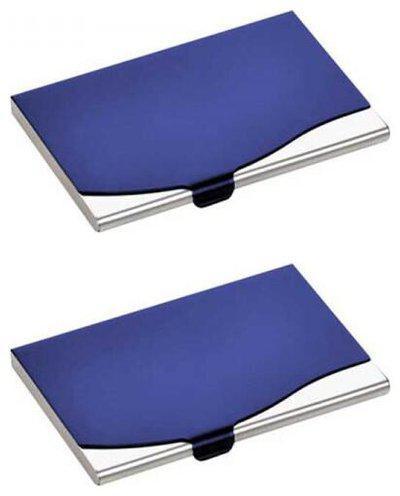 Jazam Stylish Steel Visiting Card Holder Pack Of 2