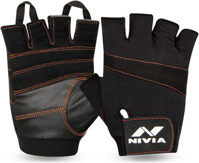 Nivia Mamba Genuine Leather Glove Gym & Fitness Gloves