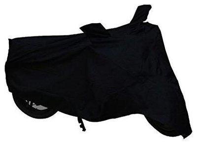 KunjZone Black Dust Proof Water Resistant Double Mirror Pocket Bike Body Cover for Bajaj Discover