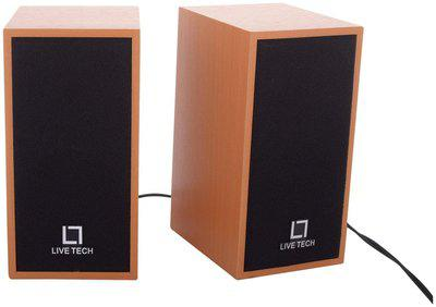 Live Tech LT-SP-08 Wooden USB Speakers with Rich Bass Experience for Multimedia Devices