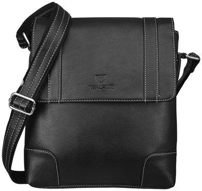 Walrus Black Leather Messenger Bag