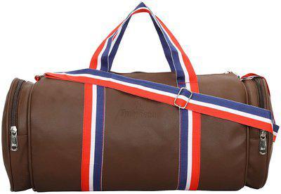 DUTY FREE Leather Men Duffle bag - Brown
