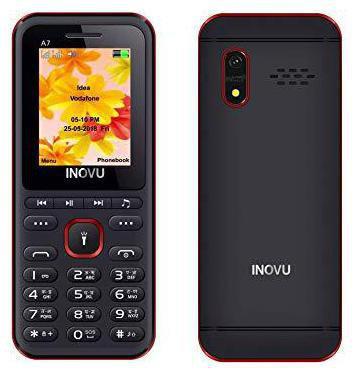 Inovu A7 Dual Sim Feature Phone (Black-Red)