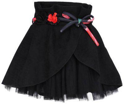 Cutecumber Baby girl Polyester Solid Skirt - Black