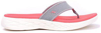 Skechers Women Striped Slippers - Uk 3 , Grey