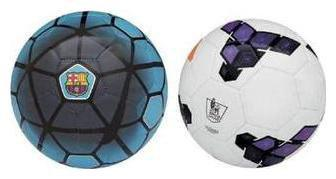 Nike FCB Blue plus Premier League Purple Football (Size-5) Pack of 2 Footballs