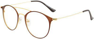 Ted Smith Brown Aviator Full Rim Eyeglasses for Men