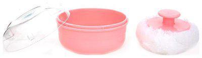 Mee Mee Premium Powder Puff with Powder Storage (Pink)