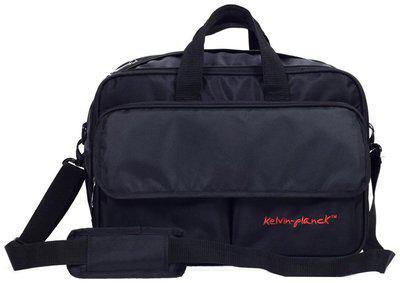 Kelvin Planck Black Polyester & Nylon Laptop messenger bag & Messenger bag
