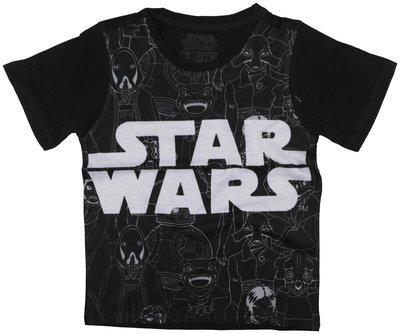 Star Wars Boy Poly cotton Printed T-shirt - Black