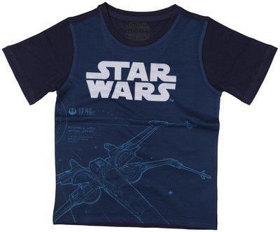 Star Wars Boy Poly cotton Printed T-shirt - Blue